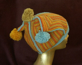 HATONSALE Striped Clown Hat