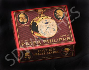 Hand-made cardboard box for Patek Philippe watch