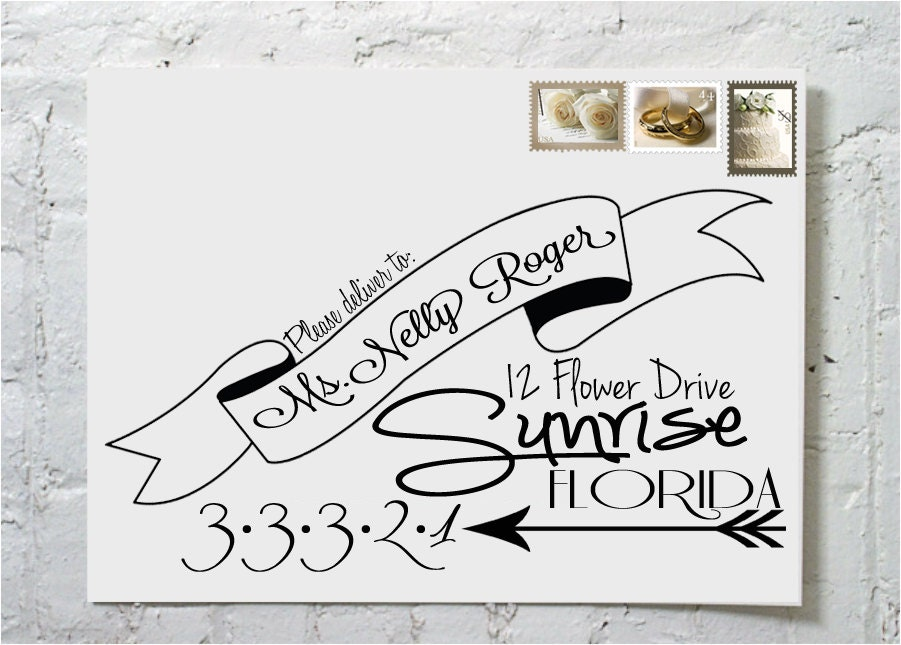 The Steph Dashingly Chic Calligraphy Envelope By Ilulily