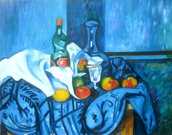 an analysis of cezannes still life with a peppermint bottle