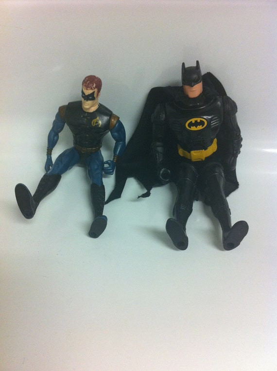Vintage Batman & Robin toy collection