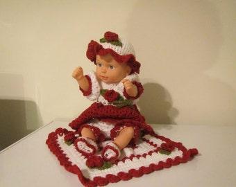 Baby Brianna Christmas or Holiday Doll Crochet
