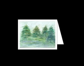 Greeting card - Oregon Evergreens