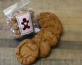 Soft Ginger Snap Molasses Gourmet Cookies / HALF DOZEN / Spicy Sweet and Chewy / Freshly Baked / Bag of Six