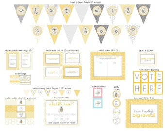 What Will it Bee Gender Reveal Printable Party Kit