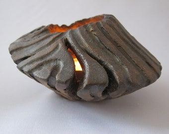 Votive Candle Holder Ceramic Lantern Tea Light Pottery Luminary