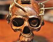 RESERVED FOR Sarah Kilmer - Steampunk Mohican Skull