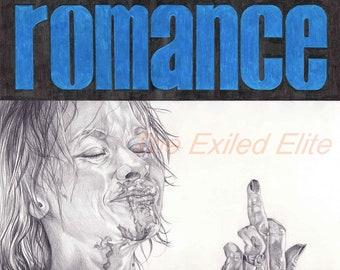 Pencil drawn alternative True Romance poster