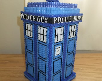 3D Perler Tardis Desk Accessory