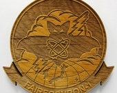 US Navy VQ-1 Logo Wooden Fridge Magnet