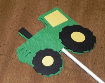 Tractor Cupcake Toppers - Set of 12 - John Deere Birthday Party