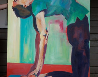 Yoga Pose Oil Painting