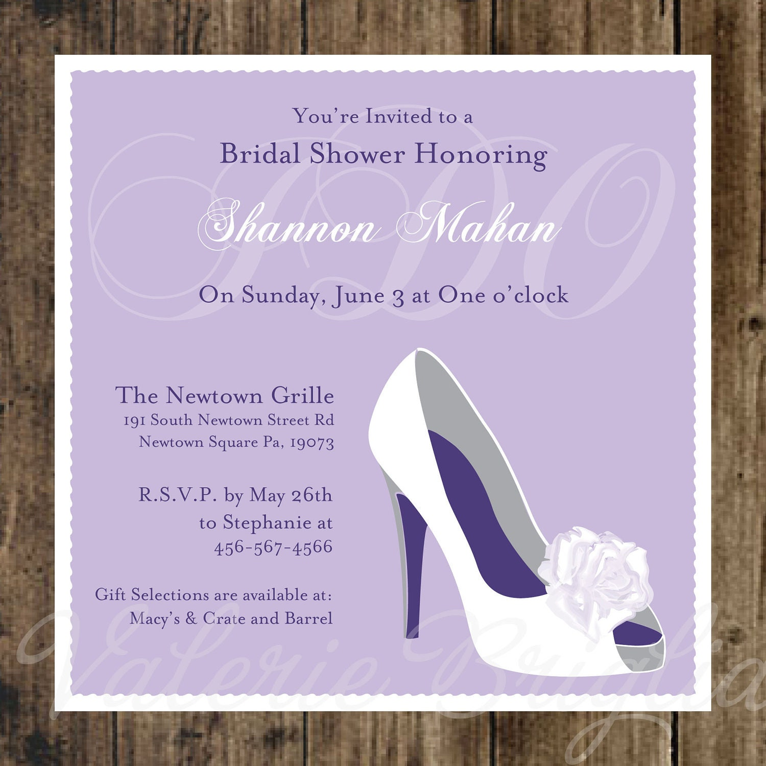 wedding Shoe Bridal Shower Invitation printable file