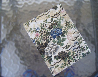 Floral Fabric-Wrapped Hardcover Journal with Unlined Pages, Hand-Sewn, Hand-made