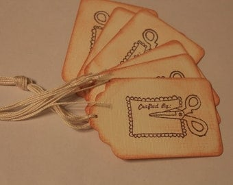 Crafted By: Gift Tags, set of 6