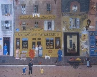 """Michel Delacroix """"Au Moulin de Paris"""" Limited Edition Lithograph -- Stone Signed Print"""