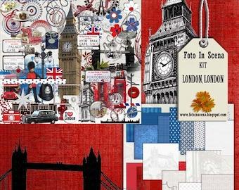 Digital kit LONDON LONDON, London, England, Great Britain, Big Ben, London Eye, London Bridge