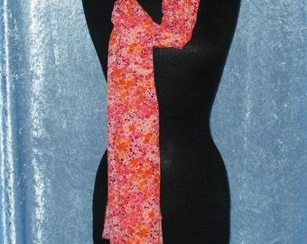Fashion Neck Scarf - Floral Print Chiffon