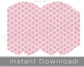 Printable pillow boxes INSTANT DOWNLOAD pink party decor printables DIY favor box