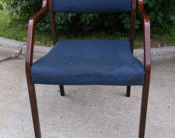 A sweet mid century modern Eames era Westnofa armchair with tag RARE