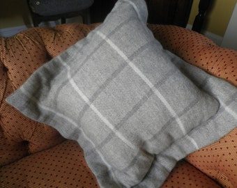 Large Woven Oxford Style Cushion