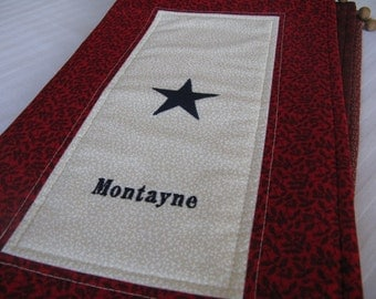 1-Star Service Flag with Customized Name Embroidered