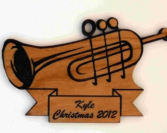 Custom Personalized Trumpet Christmas Ornament FREE Shipping