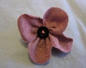 Lavender Flower Hair Clip