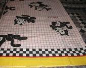 Felix The Cat   Twin Flat Bed Sheet    Vintage 1983