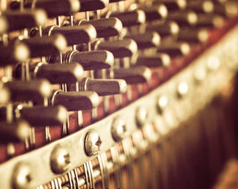Piano art, Music room decor, Music decor, Music pictures, Piano décor, Music room, Piano teacher gift // Vintage Piano No.3~Soundboard