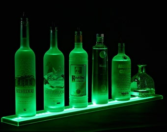 3' LED Lighted Liquor Shelves Bottle Display -Home Bar Lighting