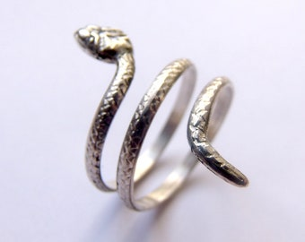 Silver Snake Ring, Snake Jewelry, Snake Wrap Ring, Animal Ring, Animal Wrap Ring, Animal Jewelry, Sterling Silver Ring, Silver Jewellery