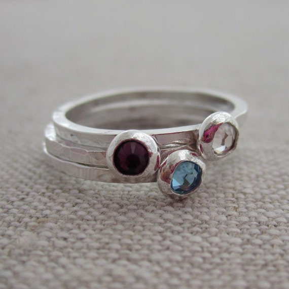 personalized birthstone rings new stacking rings