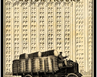 Antique Truck Print - Sampson Truck 1911