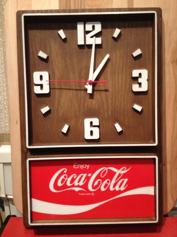 Coca Cola Electric Wall Clock 1980 S Plastic