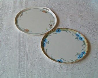 Antique Nippon Tray Plates - Set of 2