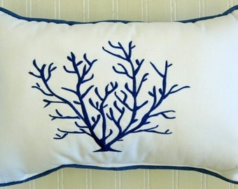 Blue Coral Pillow