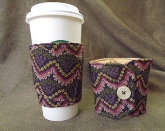 Coffee Cozy by RayvnneHawkesCottage - grapes w/ pocket