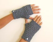 free shipping Fingerless gloves grey gloves cozy gloves wool gloves