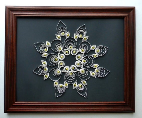 Items Similar To Wall Decor Paper Quilling Snowflake