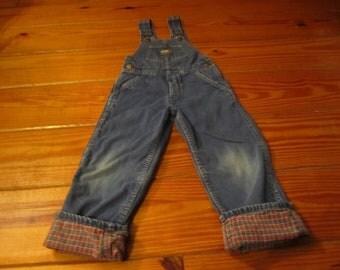 Vintage Childrens Oshkosh  Bib Jeans From The 1980's.Size 5