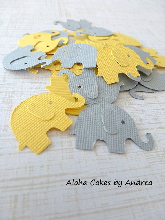 elephant confetti baby shower decorations by. Black Bedroom Furniture Sets. Home Design Ideas