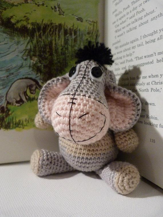 Amigurumi Pattern Cute Eeyore Amigurumi Doll Crochet Pattern