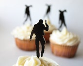 11 Zombies and 1 Survivor Cupcake Toppers (Acrylic)