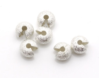 5mm Crimp Cover Stardust Silver Tone 300pieces package-