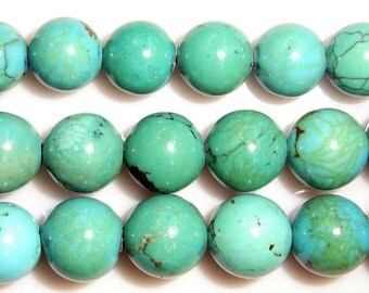 8mm Round Turquoise Beads Genuine Natural A Grade 15''L 38cm Loose Beads Semiprecious Gemstone Bead   Supply