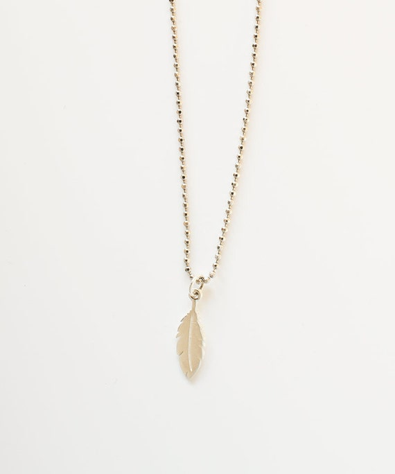 feather necklace silver feather necklace feather by talulahlee