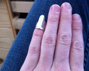 Sterling silver fingernail ring