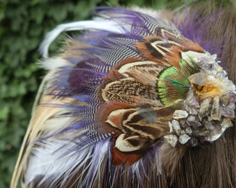 Natural Feather Hair Clip