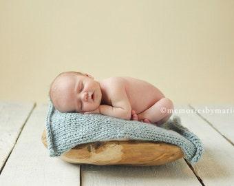 knitted newborn prop